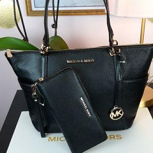 🎁🆕️ MK Black Pebble Leather Matching Set